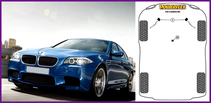 Auto-Tuning & -Styling 10-16 BMW F10 M5 Powerflex Front Radius Arm ...
